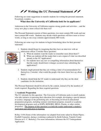 personal statement yahoo answers