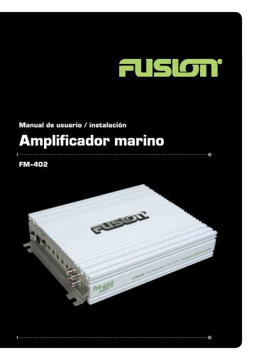 Amplificador marino - Fusion