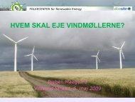 Hvem skal eje vindmøllerne? - Nordic Folkecenter for Renewable ...