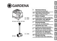 OM, Gardena, Indoor Fountain Pump, Art 07834-20, Art 07835-20 ...