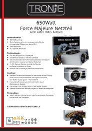 650watt Force Majeure Netzteil