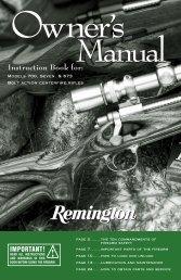 Model 700™ Owner's Manual - Remington