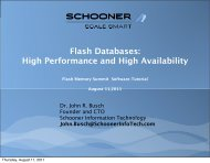 High Performance and High Availability - Flash Memory Summit
