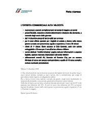 Nota stampa offerta commerciale AV (.pdf 146 KB ) - FSNews