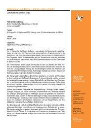 Programm Berlin Stadtentwicklung 2010 - Forum Unna