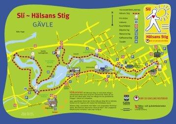 Karta Hälsans Stig Gävle