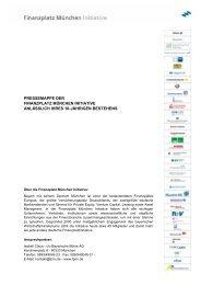 pressemappe der finanzplatz münchen initiative anlässlich ihres 10 ...
