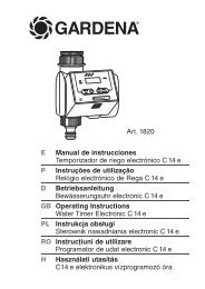 OM, Gardena, Sterownik nawadniania electronic C14e, Art 01820 ...