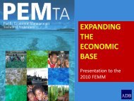 pemta expanding the economic base