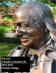 Student Handbook - Franklin College