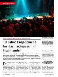10 Jahre Engagement für das Fachwissen im ... - Fischmagazin.de