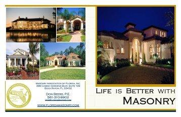 Residential Masonry Brochure - Masonry Association of Florida