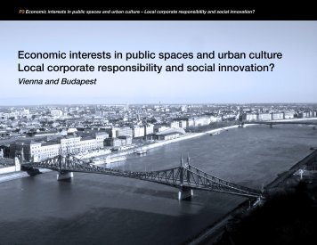 Economic interests in public spaces and urban culture Local ...