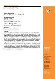 Geplanter Programmablauf Bildungsurlaub Alpen 2013... - forum unna