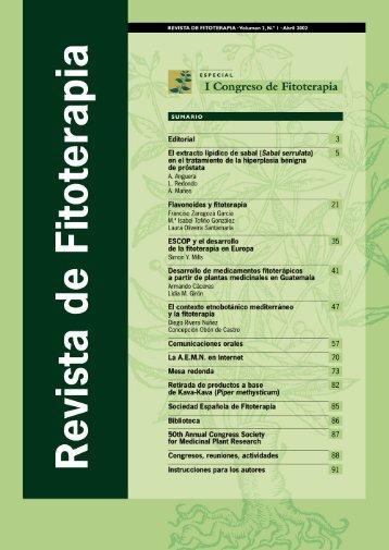 Desarrollo de medicamentos fitoterápicos a partir ... - Fitoterapia.net
