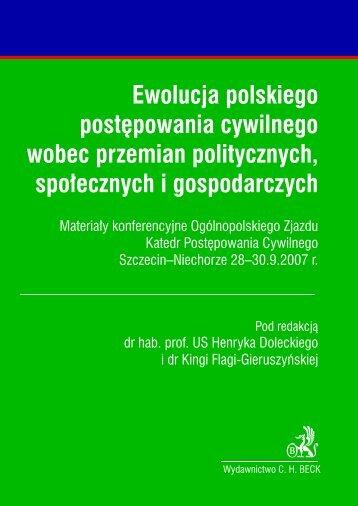 Ewolucja polskiego postêpowania cywilnego wobec ... - Gandalf