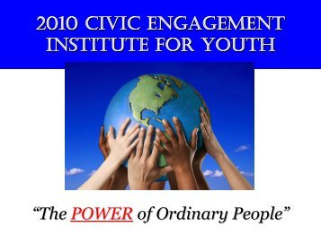Youth Civic Engagement Trainings Institute, March 2010