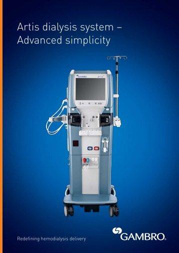 Artis dialysis system – Advanced simplicity - Gambro