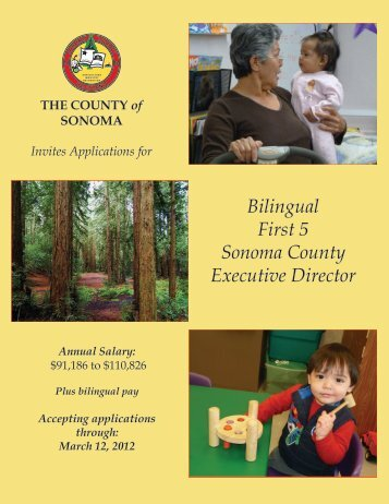 First Five Executive Director Recruitment Brochure - First 5 Sonoma ...