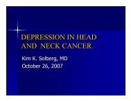 DEPRESSION IN HEAD AND NECK CANCER