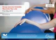 Group exercise timetable (pdf 723kb) - Fusion Lifestyle