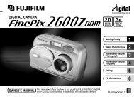 FinePix 2600 Zoom Manual - Fujifilm Canada