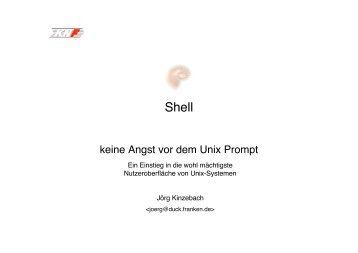 keine Angst vor dem Unix Prompt