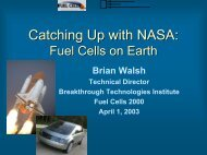 Catching Up With NASA - Fuel Cells 2000