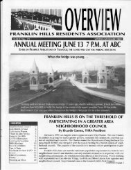 Spring issue #21 - Franklin Hills Residents Association