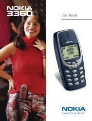 Nokia 3360 User's Guide