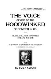 THE VOICE HOODWINKED - The Libertarian Labyrinth