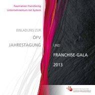 FranchiSe-Gala 2013 ÖFV JahreStaGUnG - Österreichischer ...