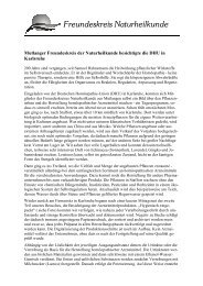 Pressemitteilung Besichtigung DHU - Freundeskreis Naturheilkunde ...