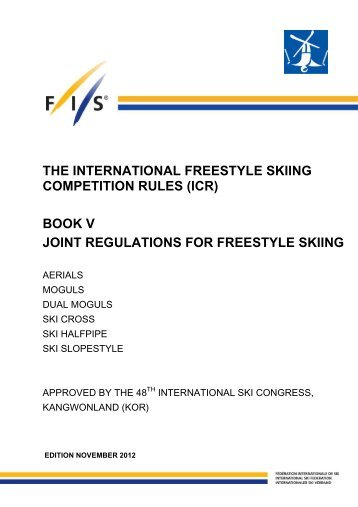 International Competition Rules 2012 - FIS