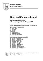 Bau- und Zonenreglement - Gemeinde Flühli
