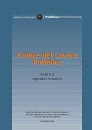 Codice del Lavoro Pubblico - Parte II - Appendici Normative