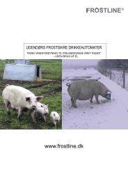 Tekniske specifikationer - Frostline