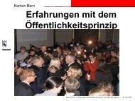 Erfahrungen mit dem Öffentlichkeitsprinzip im ... - Kanton Zürich