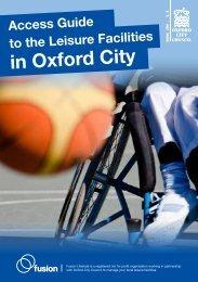 City leisure access guide (pdf 331 kb) - Fusion Lifestyle