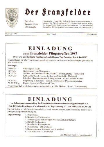 Ausgabe 4 hier herunterladen - Die Franzfelder