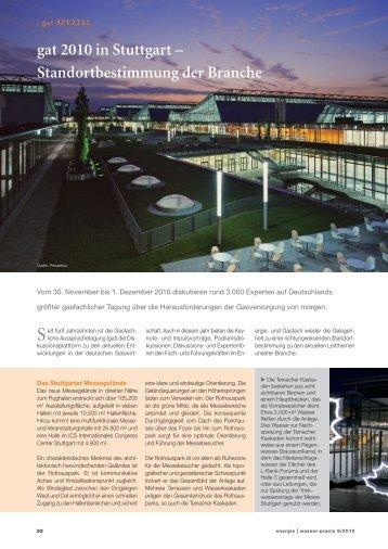gat 2010 in Stuttgart – Standortbestimmung der Branche