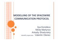 modelling of the spacewire communication protocol - FRUCT