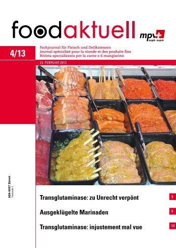 Ausgeklügelte Marinaden Transglutaminase ... - Foodaktuell.ch