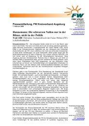 Freie Wähler Presse Mitteilung - Freie Wähler Bayern