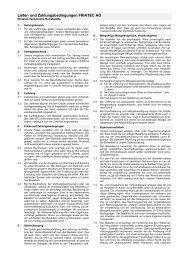 und Zahlungsbedingungen - Division Technische ... - Friatec AG