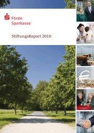 StiftungsReport 2010 (PDF ca. 4,1MB) - Förde Sparkasse