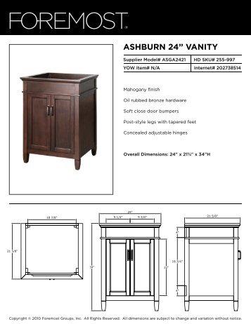 """ASHBURN 24"""" VANITY - Foremost"""