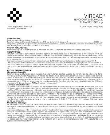 VIREAD prospecto 4/06 - Gador SA