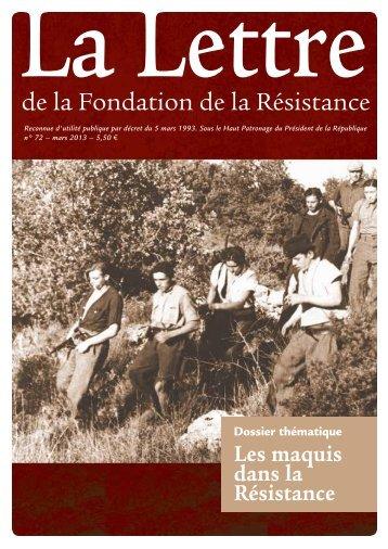 Télécharger au format PDF - Fondation de la Résistance
