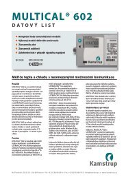multical® 602 datový list - Kamstrup